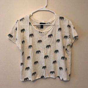 Forever 21 Elephant Print Crop top